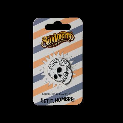 Значек для одежды SuaVecito Broken Skull Enamel Pin